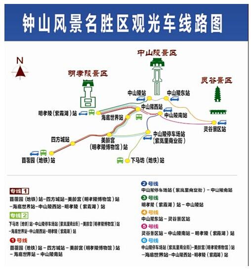 中山陵景区观光车路线