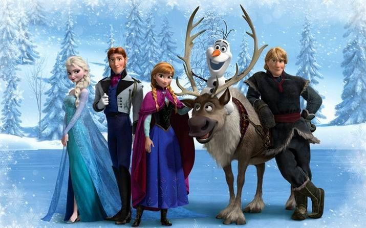 迪士尼公主动画片《冰雪奇缘》中角色的衣服有什么特点呢?图片