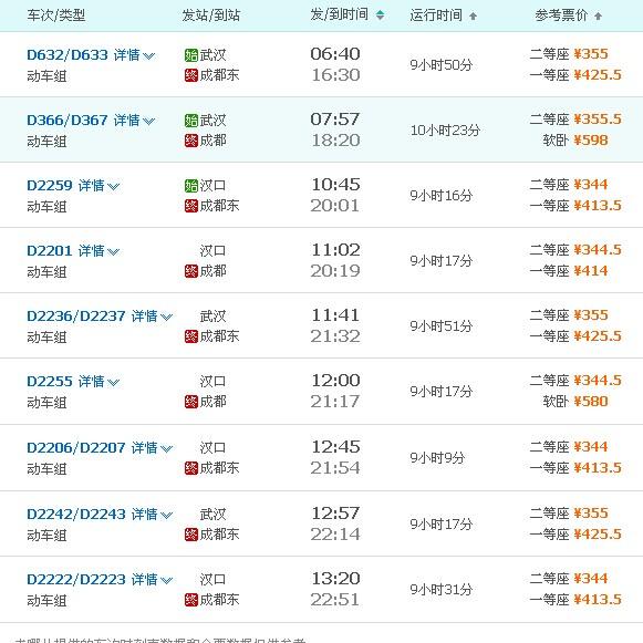 武汉到成都飞机票价