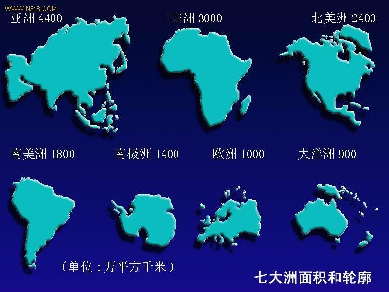 七大洲分别是哪几个州