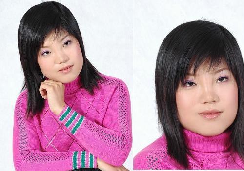 额头小下颌两边宽适合什么发型图片