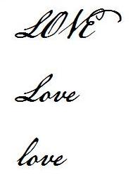love 的花样写法图片