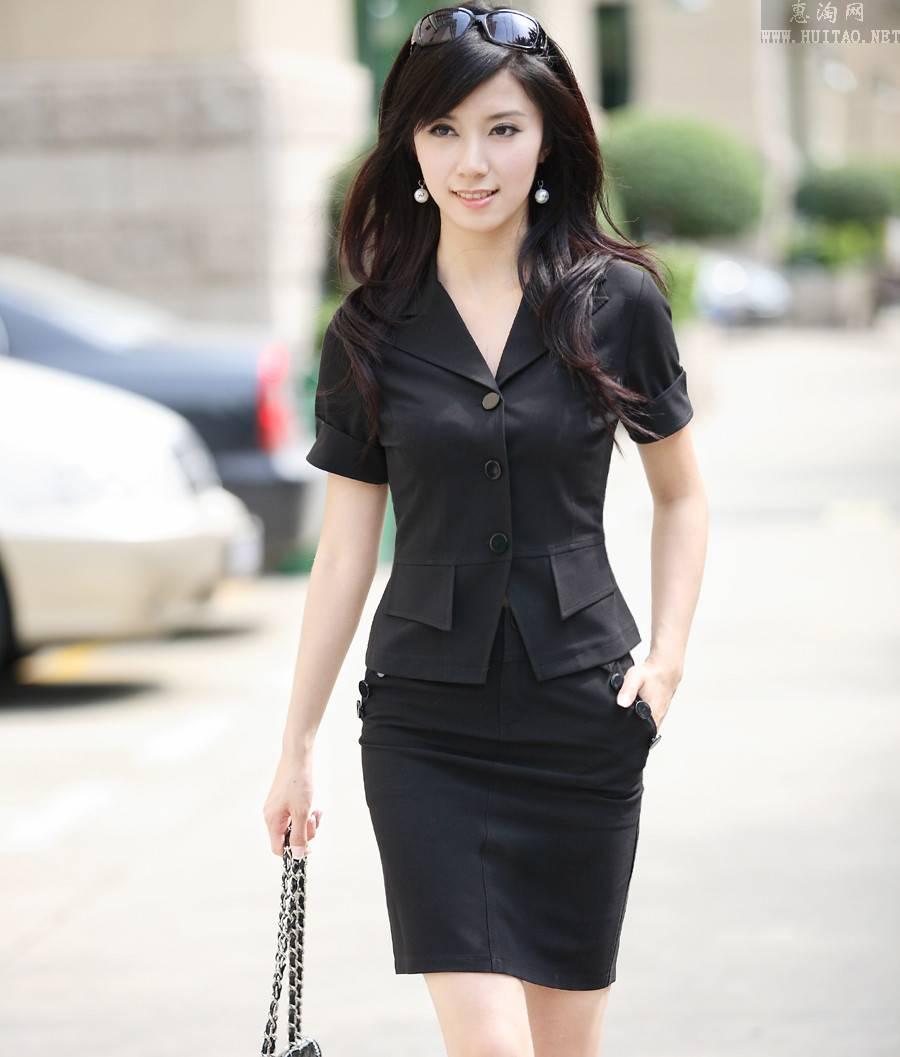 求气质职业装美女图片