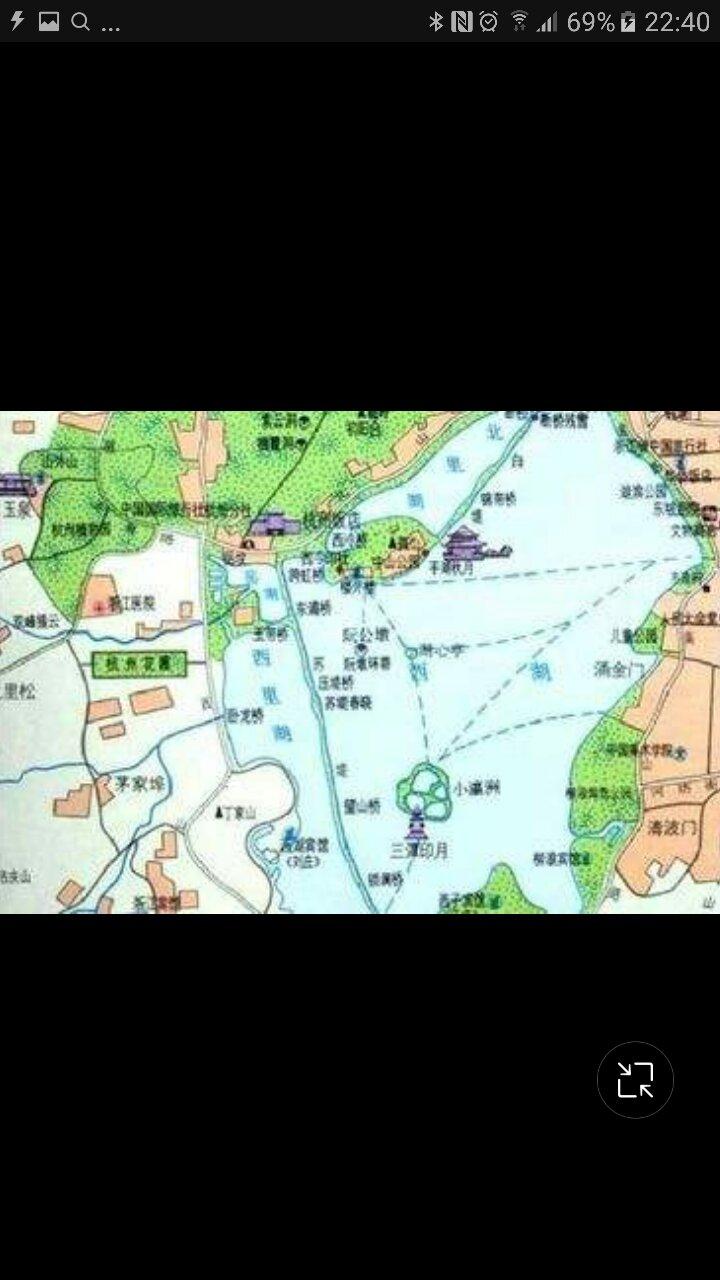 西湖景区地图高清版