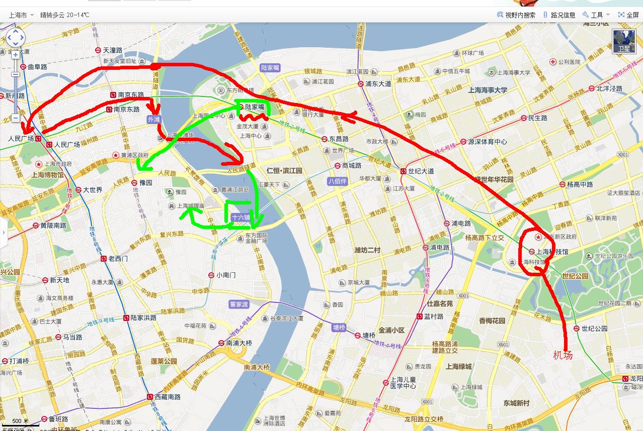 上海旅行求规划图片