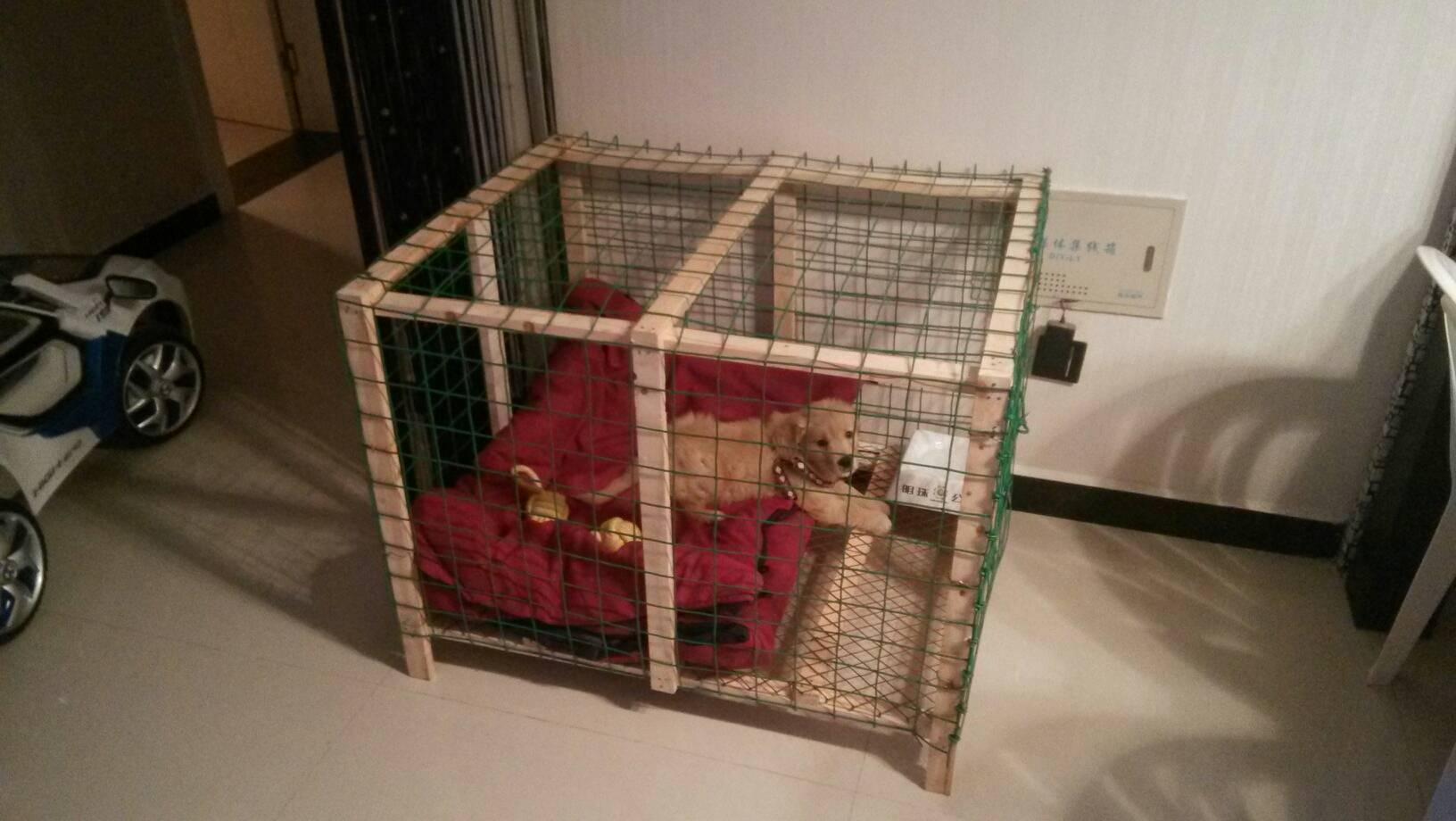 木制大狗窝的制作方法