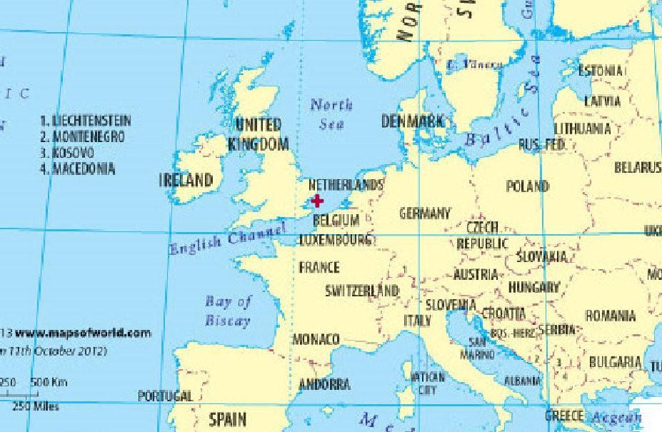 北纬51度 ,东经 2度 不在德国境内,而是在英吉利海峡.