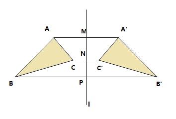 如何用直尺和圆规画两个轴对称三角形图片