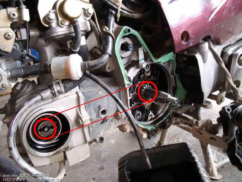 豹摩托车放机油的螺丝滑了拧不上