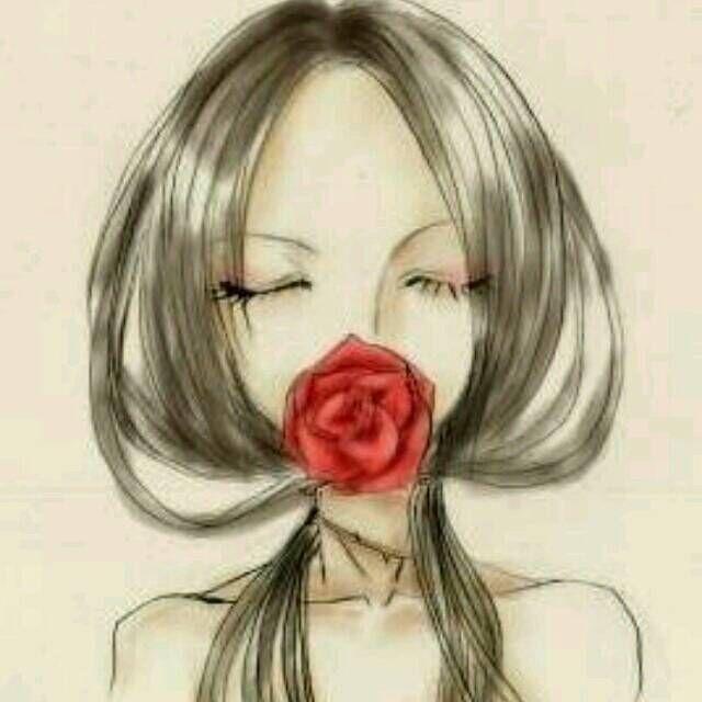 求一张张动漫女头,是一个女生低着头,头发是扎 了两个图片
