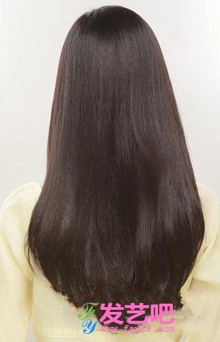 圆齐发型背影直发发型分享展示图片