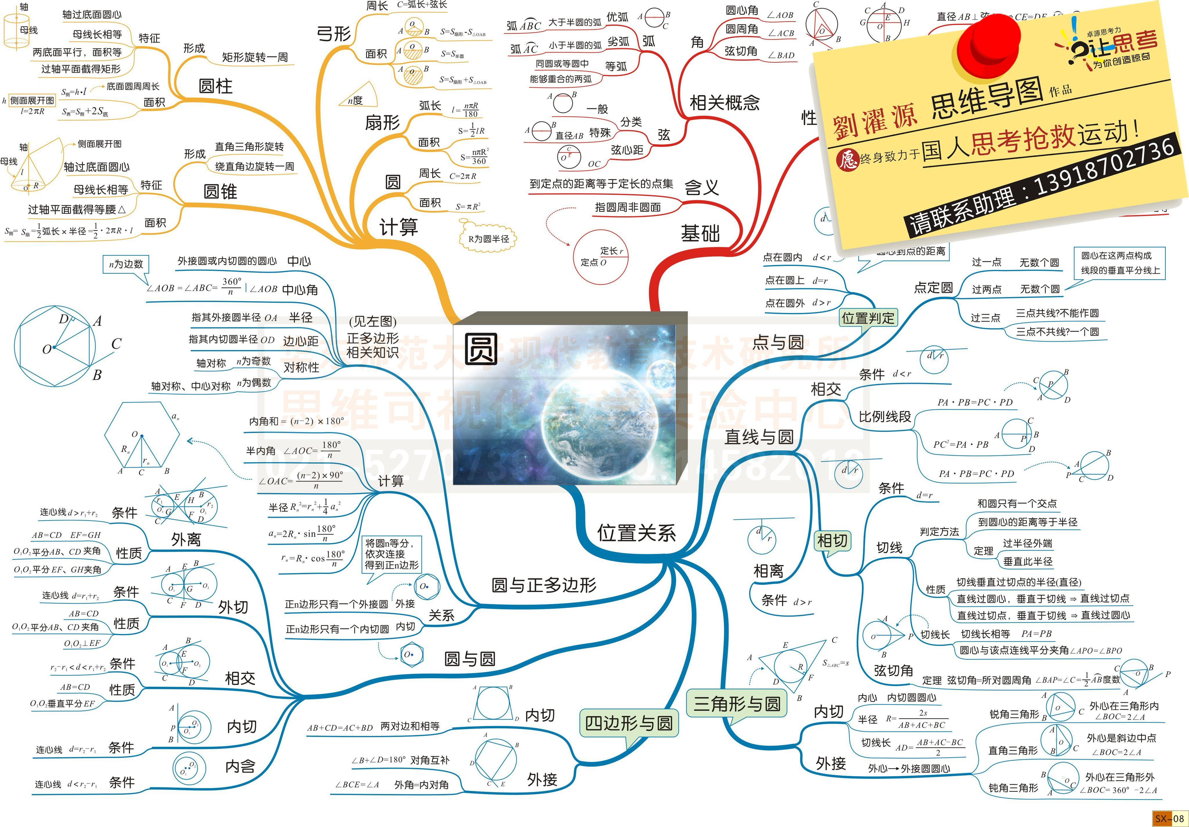 6年级圆柱的思维导图 完美作业网