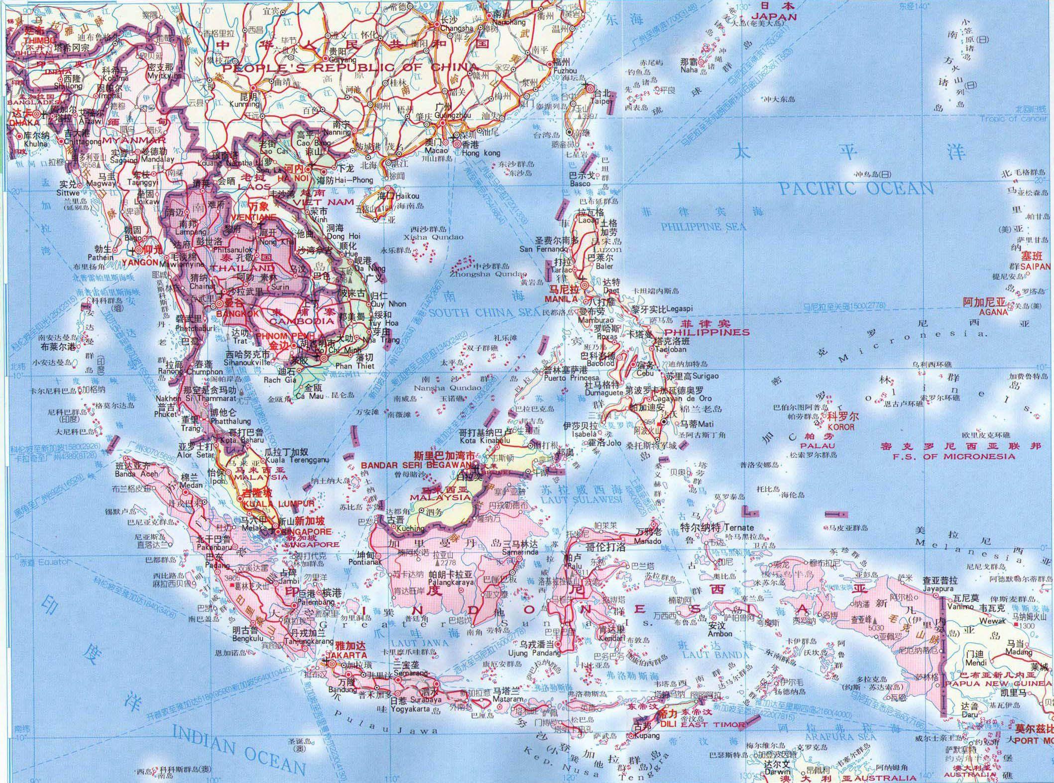 提供最新东南亚地图全图;; 越南地图中文版; 东南亚主要由中南半岛图片