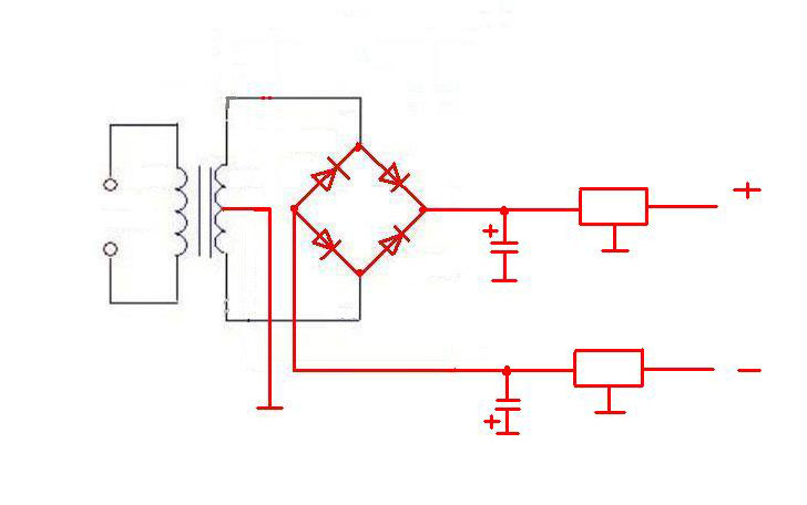 交流电220v变直流电12v双端输出的 电路 图-但我需要一个输出12v,1a图片