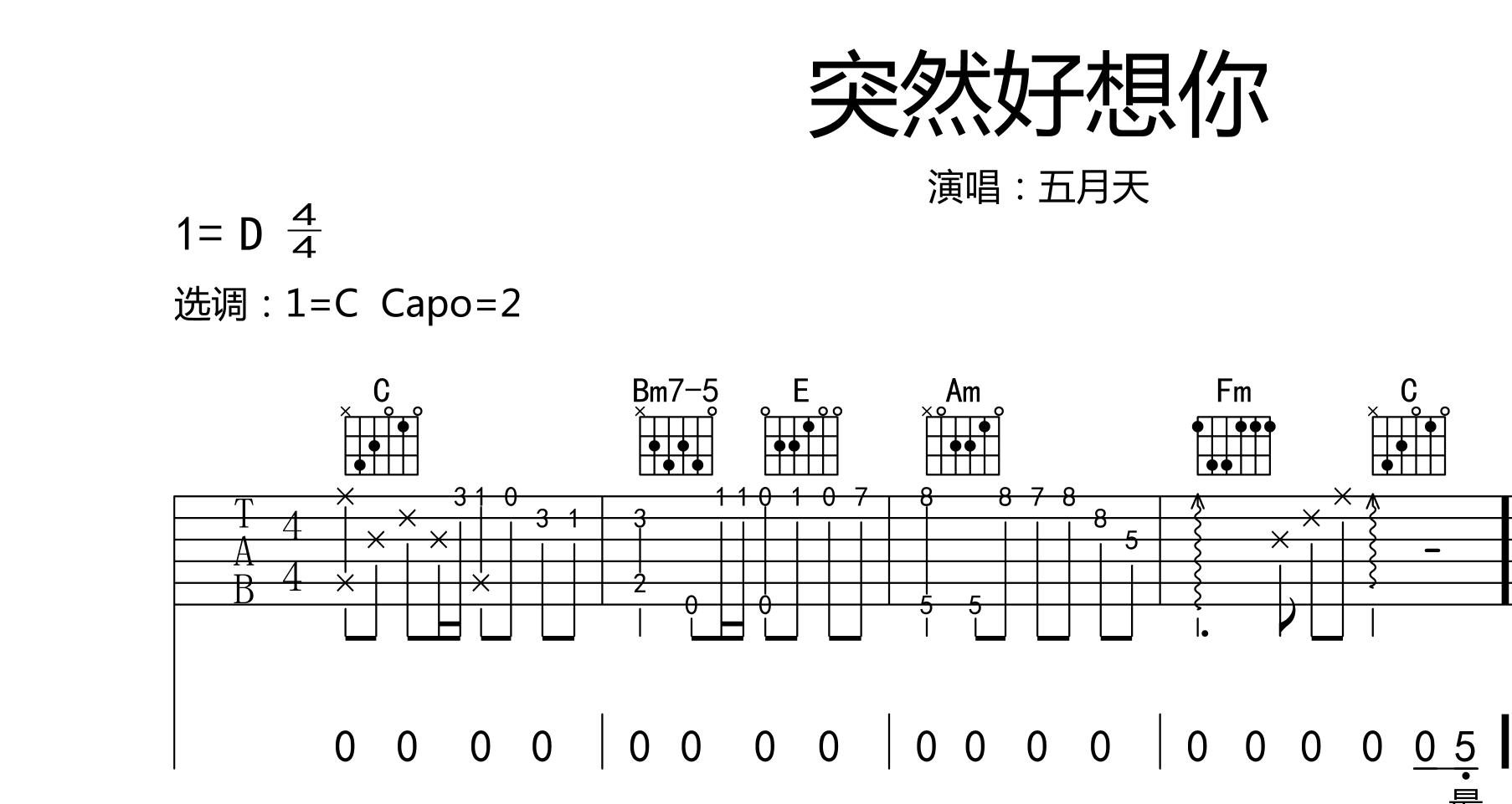 想问下怎么将吉他的em7,dm7,cmaj7,fmaj7转换成尤克尤克里里的和弦?图片