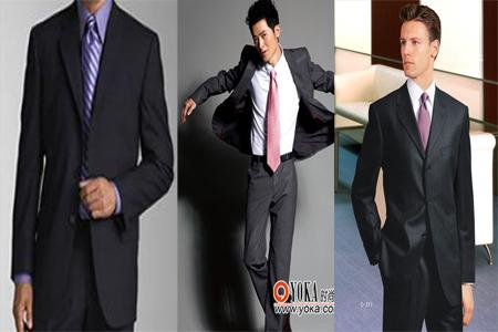 黑色西服白色衬衫配什么领带好
