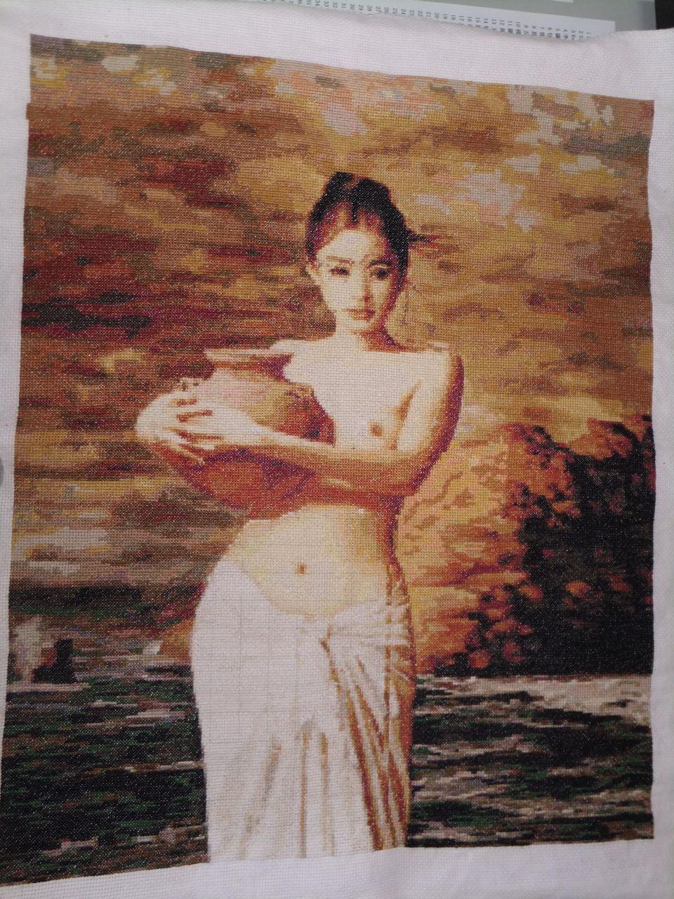 米的十字绣是八骏图图片