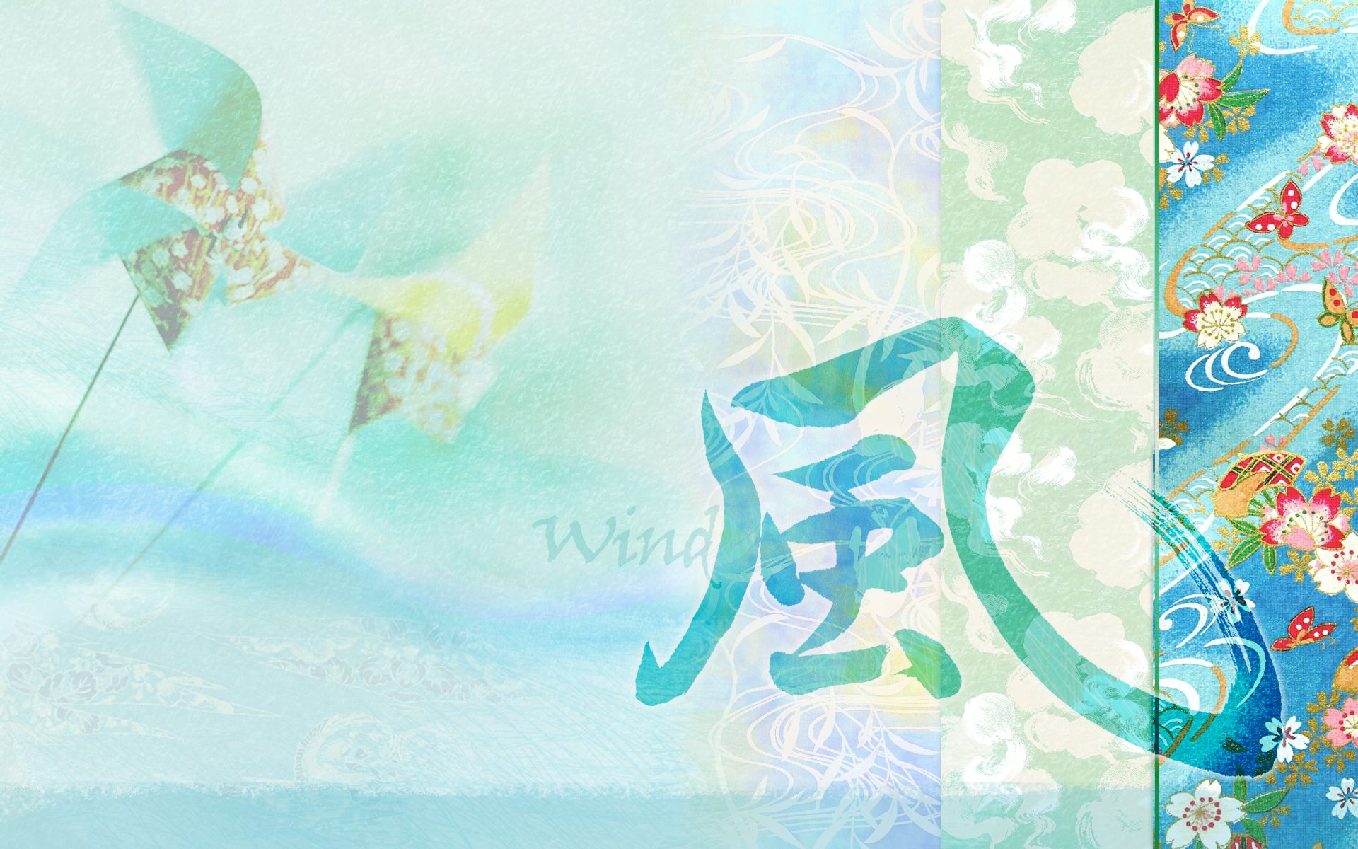 Japanese Water Painting Style Wallpaper