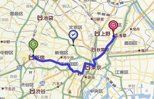 新宿到浅草寺多远