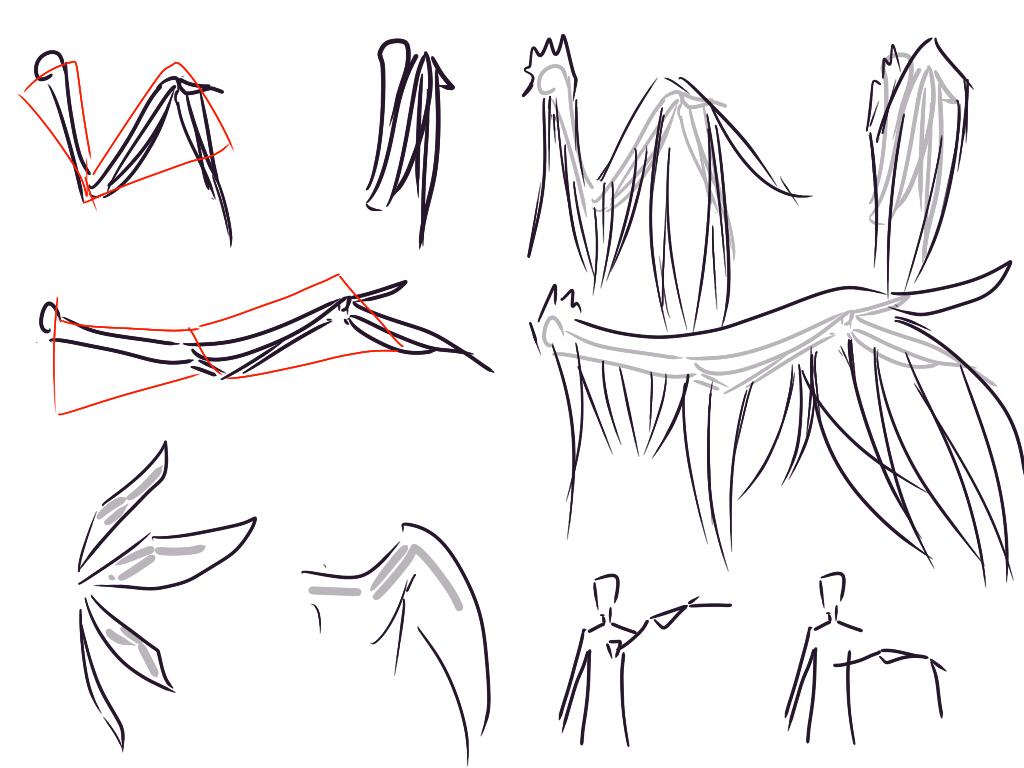 求画漫画高手:漫画里天使翅膀怎么画_百度知道