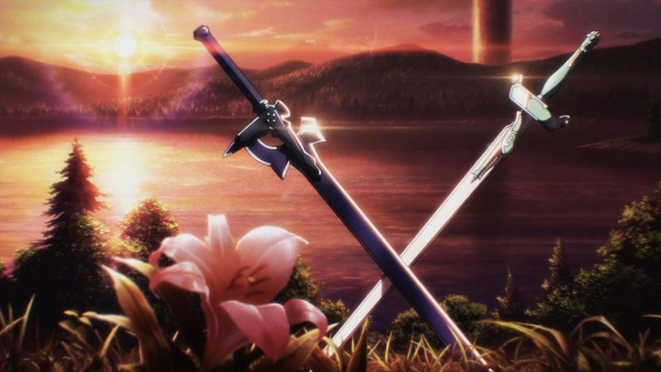 刀剑神域头像 在第一季片尾的那两把剑 求 图片