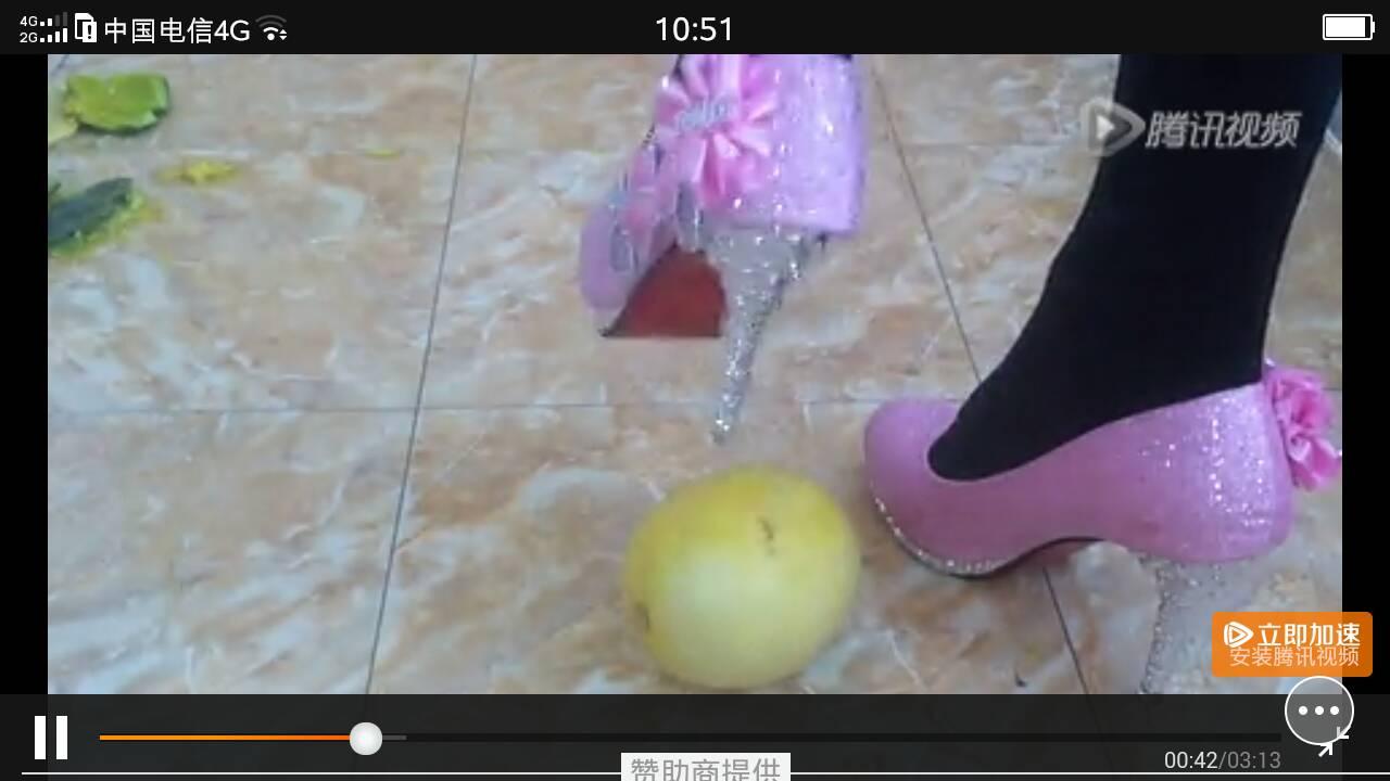 就是腾讯视频里的高跟鞋踩水果的歌曲叫什么名字?