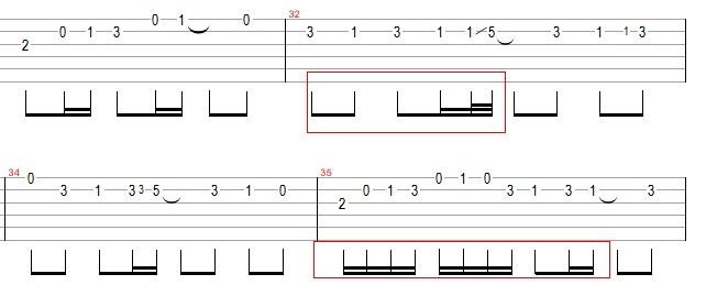 吉他谱_ 六线谱图片