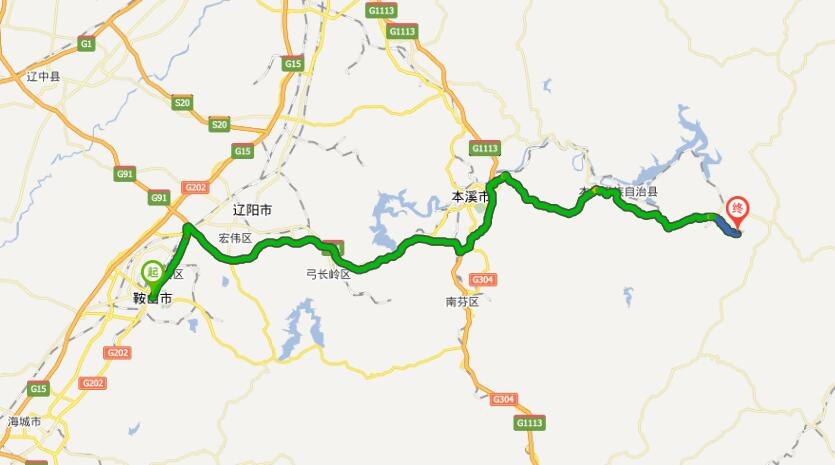 从鞍山到本溪多少公里
