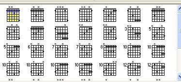 吉他f.fm和弦图片