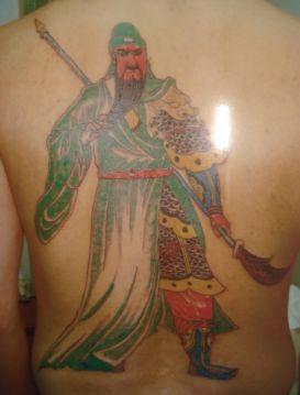 最凶的降龙关公纹身图片