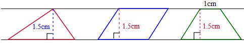 两平行线间的平行四边形面积相等吗