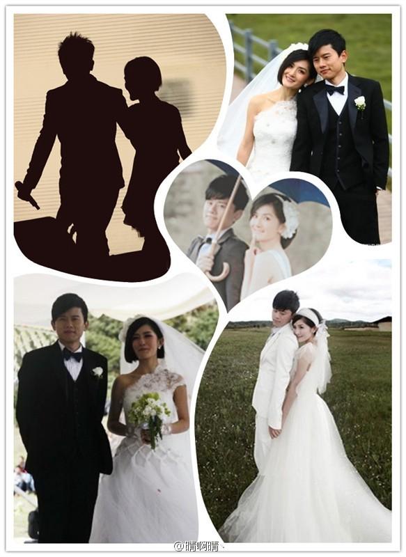 张杰谢娜的婚纱照