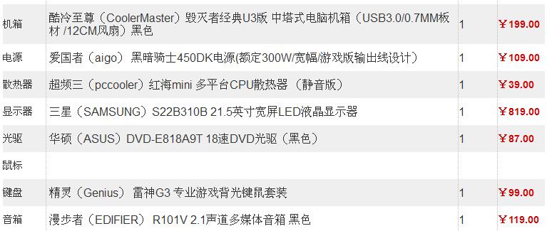 组装台式电脑配置报价  295 2010-09-12 台式电脑配置3000-4000.图片