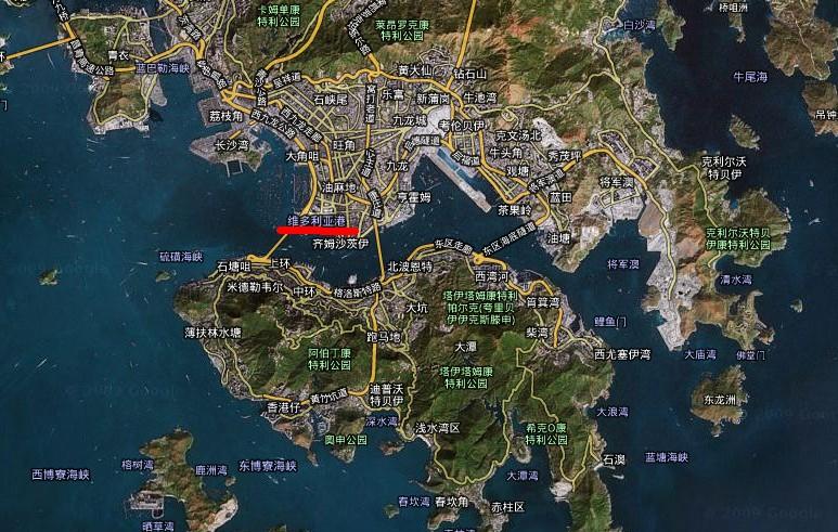 香港维多利亚港地图