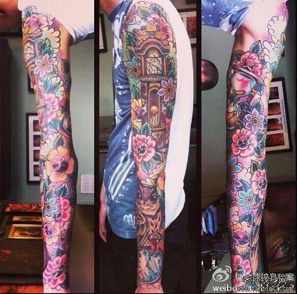 花臂手稿 花臂手稿素材 花臂纹身手稿 高迪花臂手稿