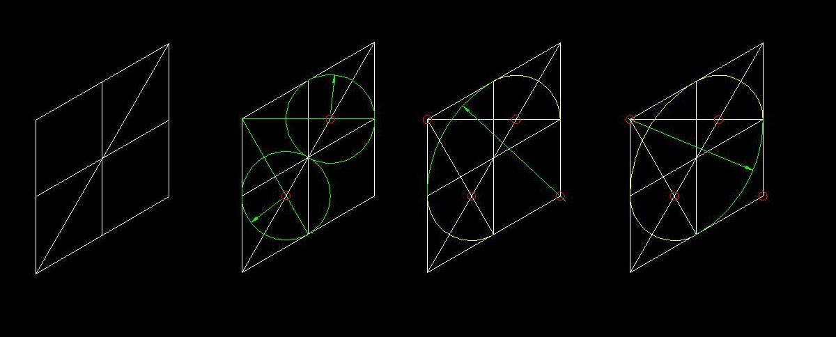 正等轴测图圆画法