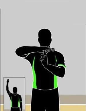 篮球裁判手势:暂停和技术犯规的手势区别图片
