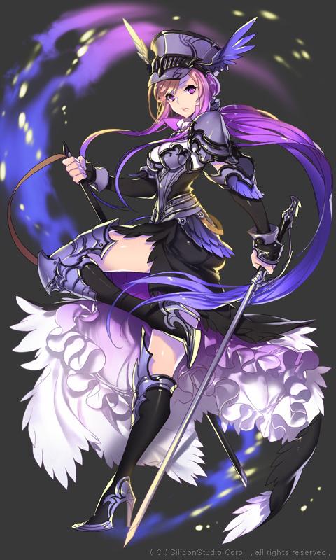 紫发紫瞳动漫少女 百度知道
