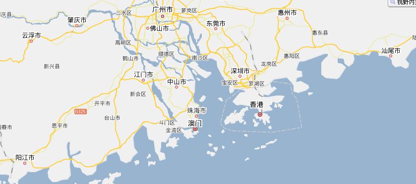 香港的地理位置_广东的地理位置!香港是不是挨这广东啊?广东哪个城市和香港.