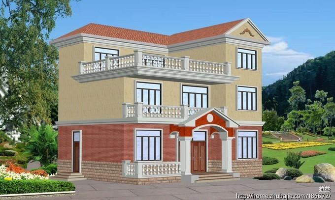 图-农村8万元二层小楼图-农村最好看两层小楼图-在农村自建两层小楼