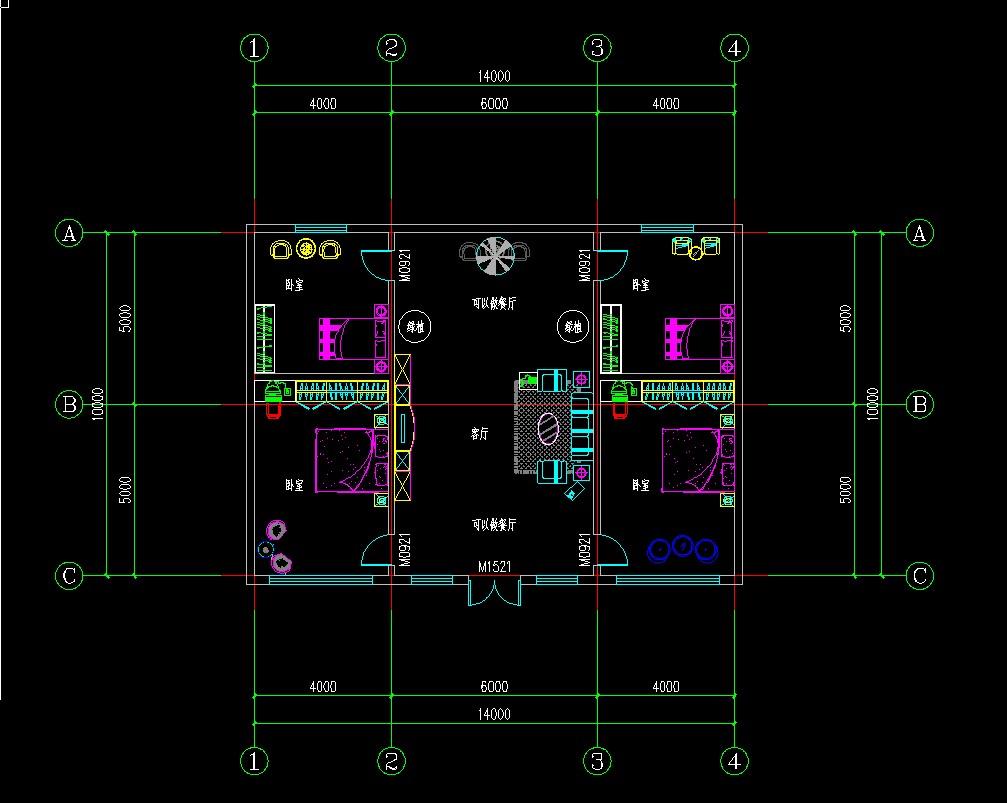 农村一层房屋设计图四室一厅图片