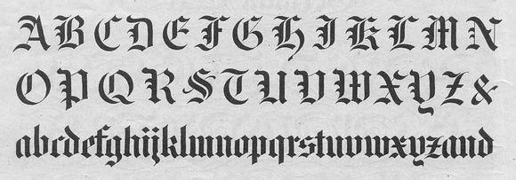 求万花哥特英文字体图片
