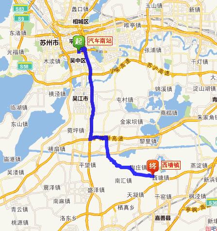 苏州到西塘打车多少钱