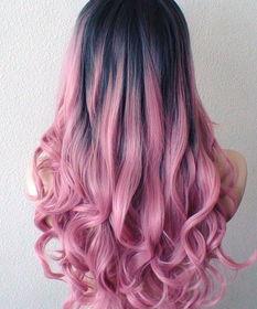 欧美渐变挑染发色_渐变发可谓是今年大热,不管是大面积的铺盖还是小范围的挑染,粉色总能