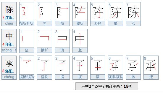 塞字的笔画顺序-陈字笔顺