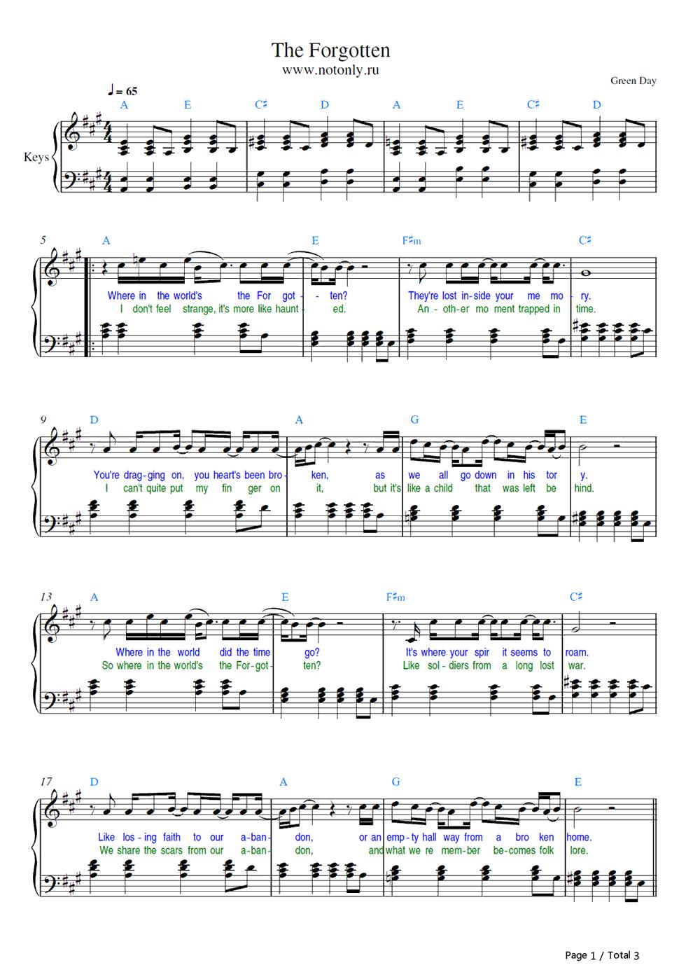 暮光之城钢琴曲的五线谱图片