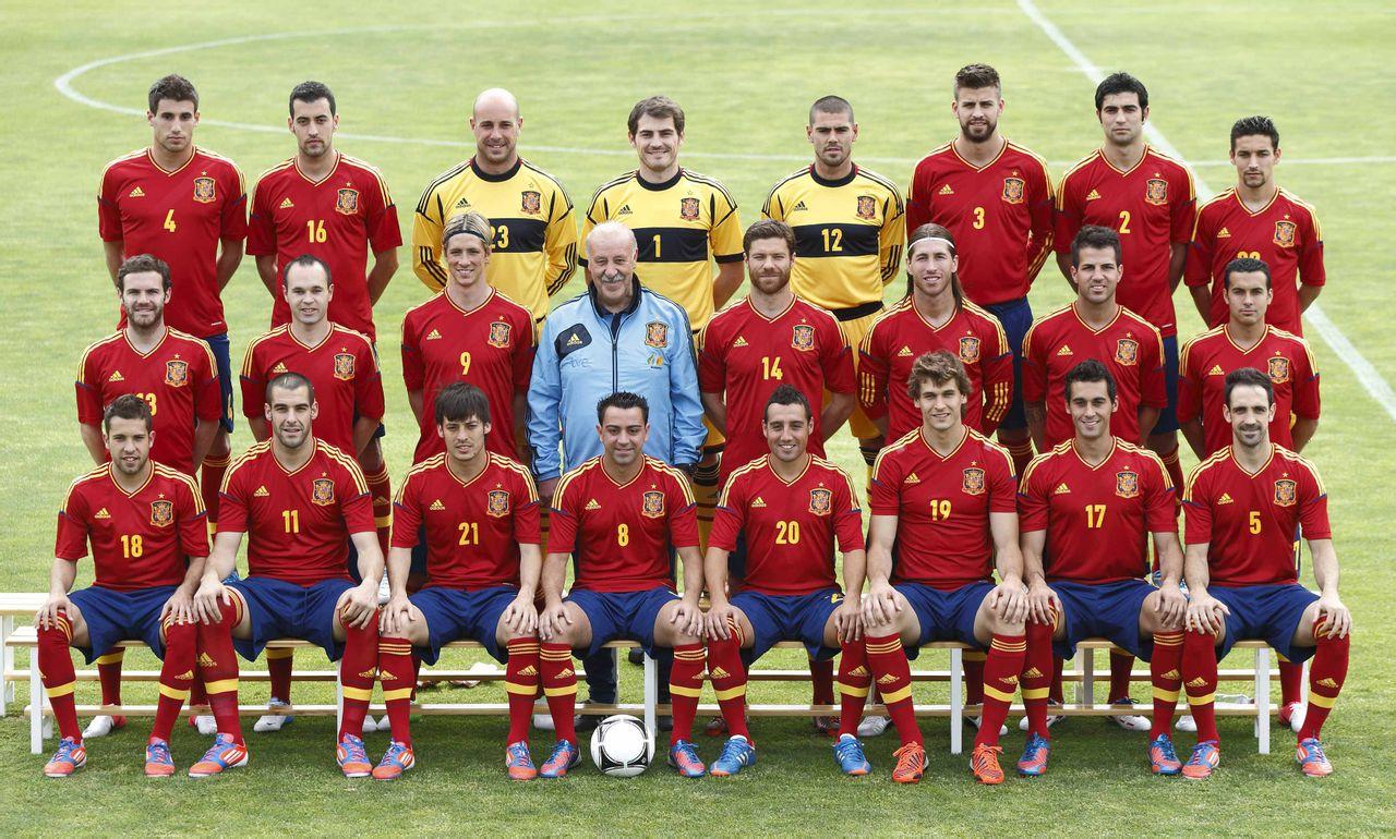 2012年欧洲杯西班牙国家男子足球队每人配个照片?图片