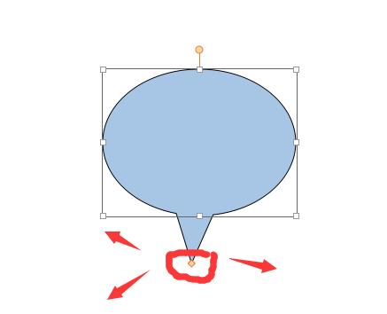 如何调节ppt标注气泡尾巴的方向图片