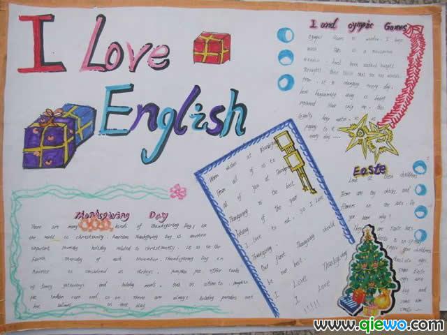 七年级下册英语手抄报资料