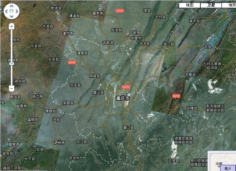 想知道: 重庆市 2011卫星地图 在哪